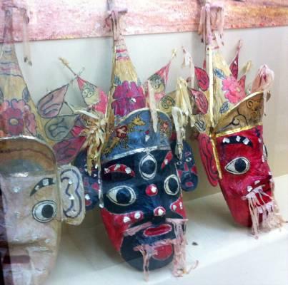 Des masques pour éloigner les esprits et les calamités...